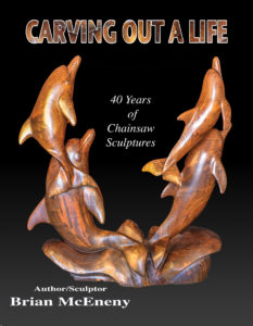 """""""Carving Out A Life"""" Back cover of flip book, published by Dancing Moon Press"""