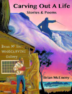 """""""Carving Out A Life"""" a flip book by Brian McEneny, published by Dancing Moon Press"""