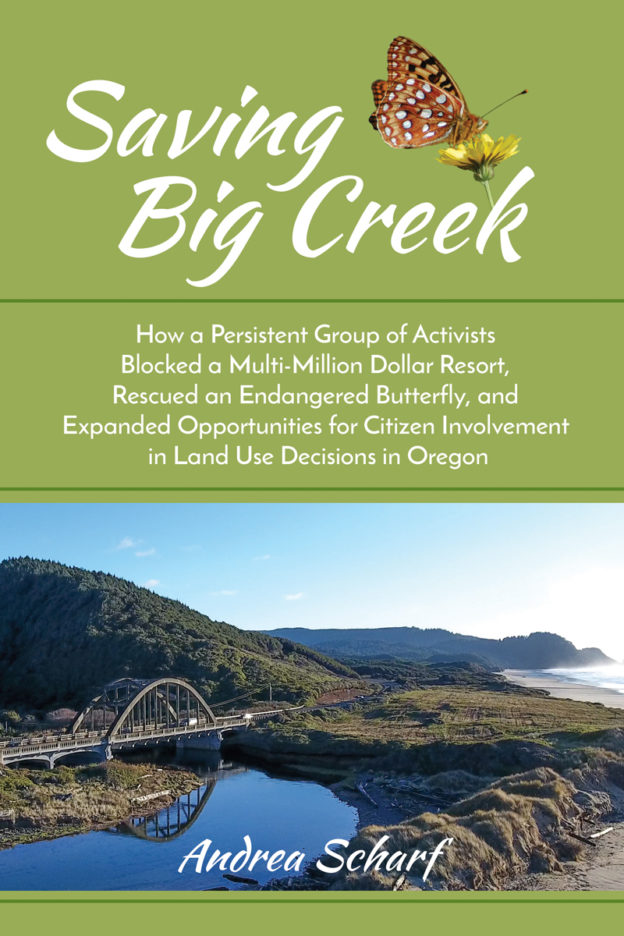 """""""Saving Big Creek"""" by Andrea Scharf, published by Dancing Moon Press"""
